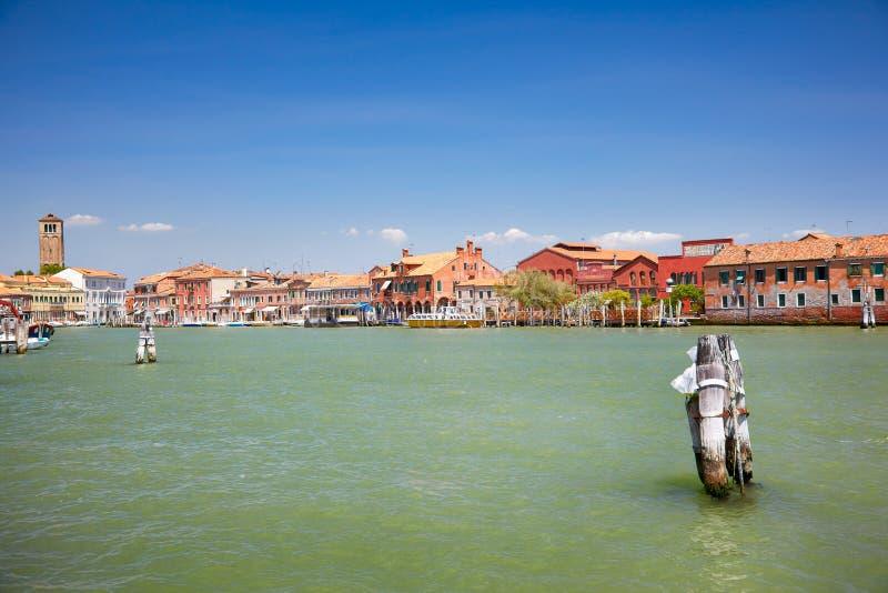 Sikt på Murano kanaler, Italien royaltyfria foton
