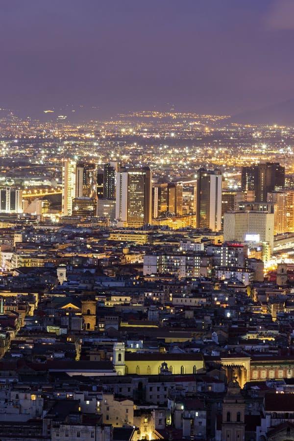 Sikt på Naples i Italien arkivfoto