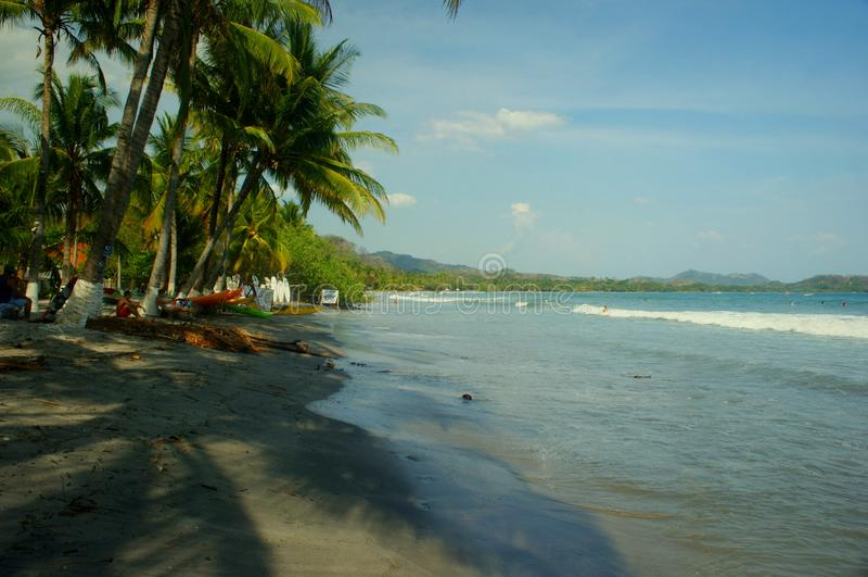 Sikt på samarastranden, Costa Rica fotografering för bildbyråer