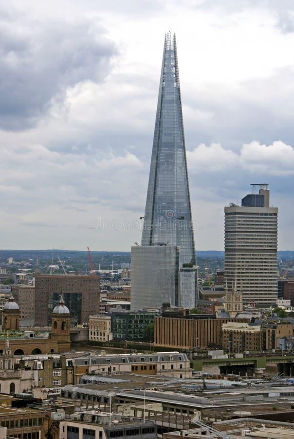 Sikt på skärvaskyskrapan, London arkivfoto