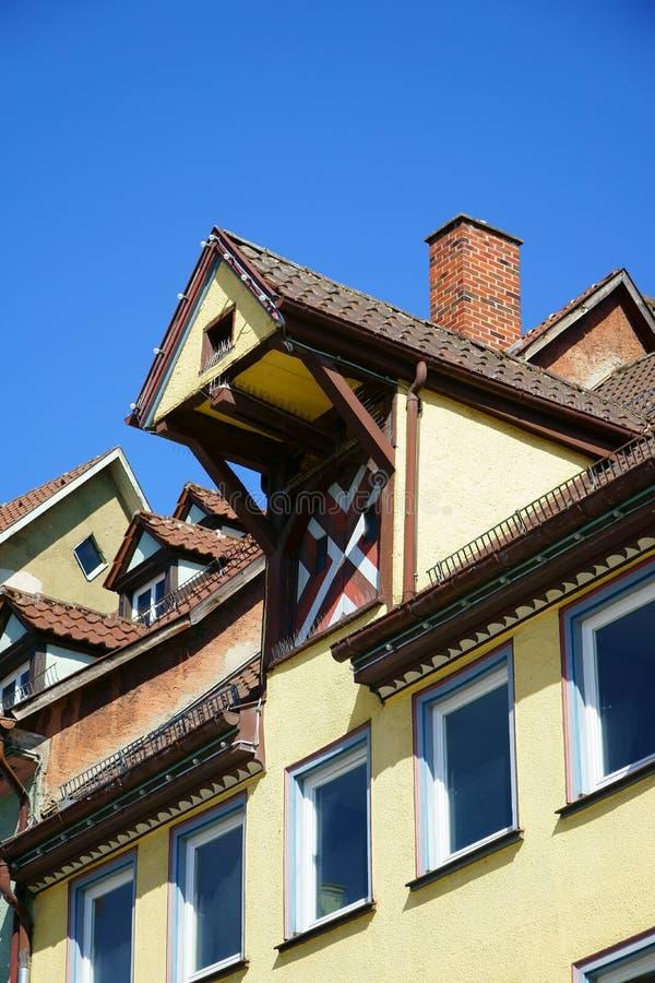 Sikt på tak av den gamla tyska staden Rottweil royaltyfri foto