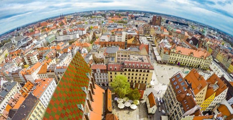 Sikt på Wroclaw arkivbild