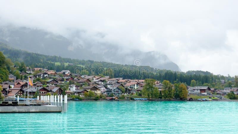 Sikt region av Brienz för sjön, Interlaken i Schweiz arkivfoton
