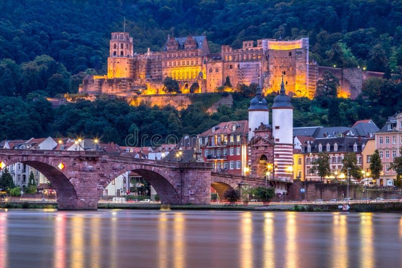 Sikt som ska rockeras, Heidelberg, Tyskland royaltyfria foton