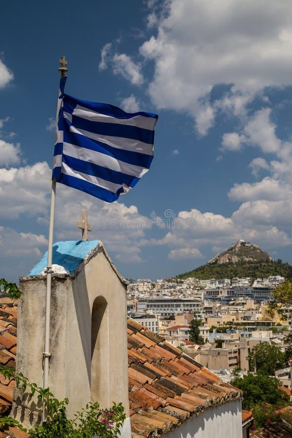 Sikt till Aten royaltyfri bild
