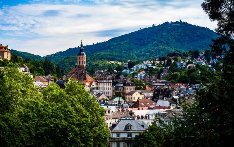 Sikt till Baden-Baden royaltyfria foton