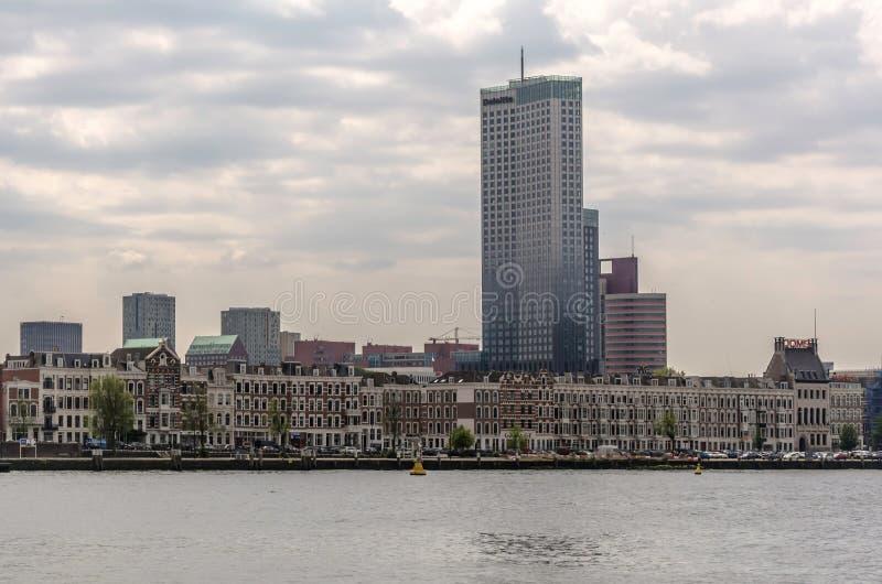 Sikt till den mest högväxta byggnaden i Nederländerna arkivfoto