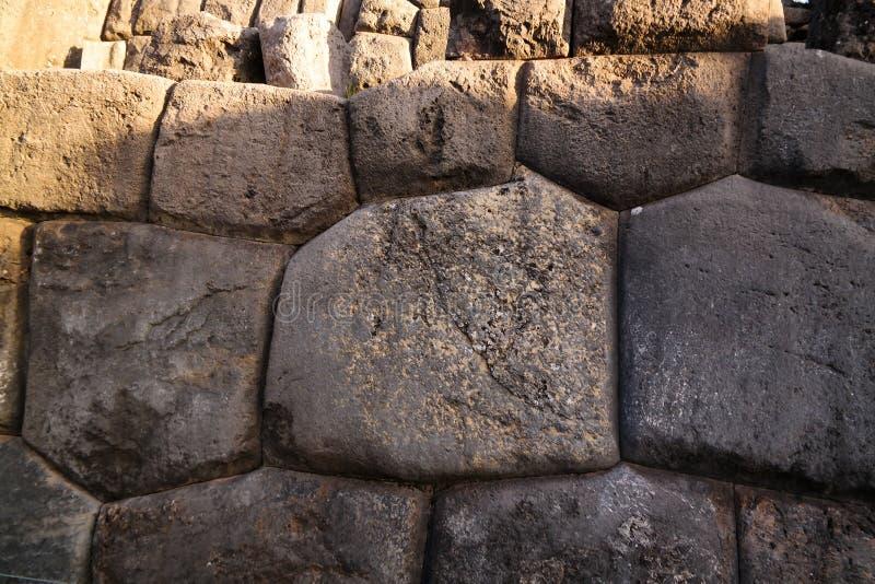 Sikt till den Sacsayhuaman UNESCOvärldsarvet, Cusco, Peru arkivbilder