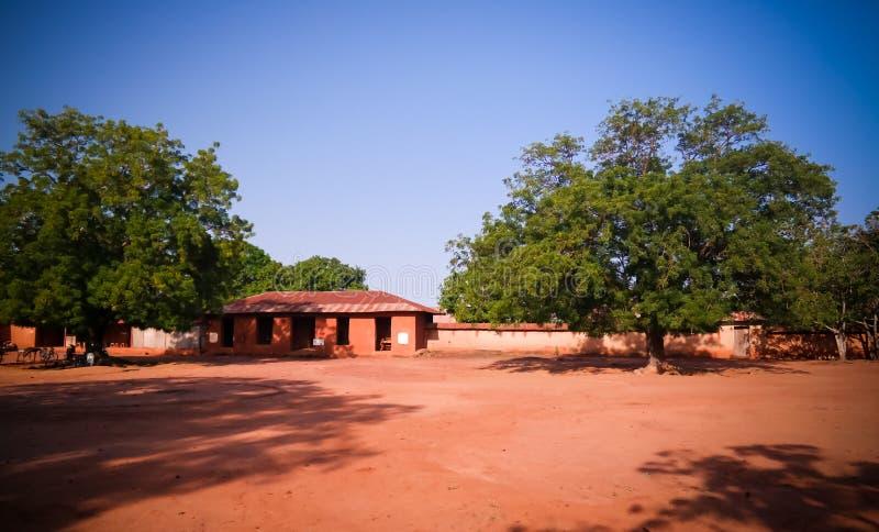 Sikt till kungliga slottar av Abomey, Benin arkivfoto