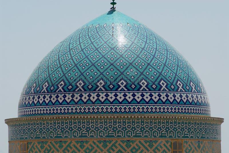 Sikt till kupolen av den Jameh moskén i Yazd, Iran royaltyfri fotografi