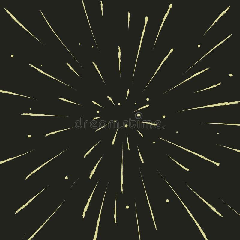 Sikt till meteorregn eller flyg med hastighet av ljus royaltyfri illustrationer
