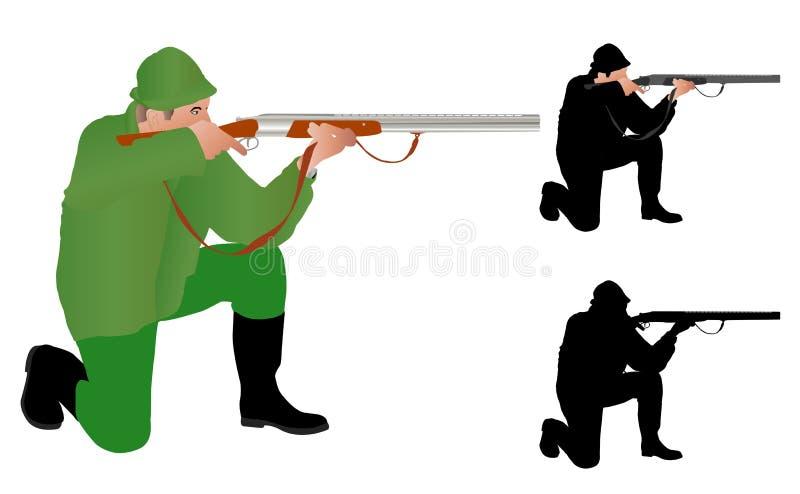 Sikta för jägare stock illustrationer