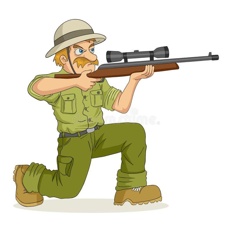 sikta jägaregeväret stock illustrationer