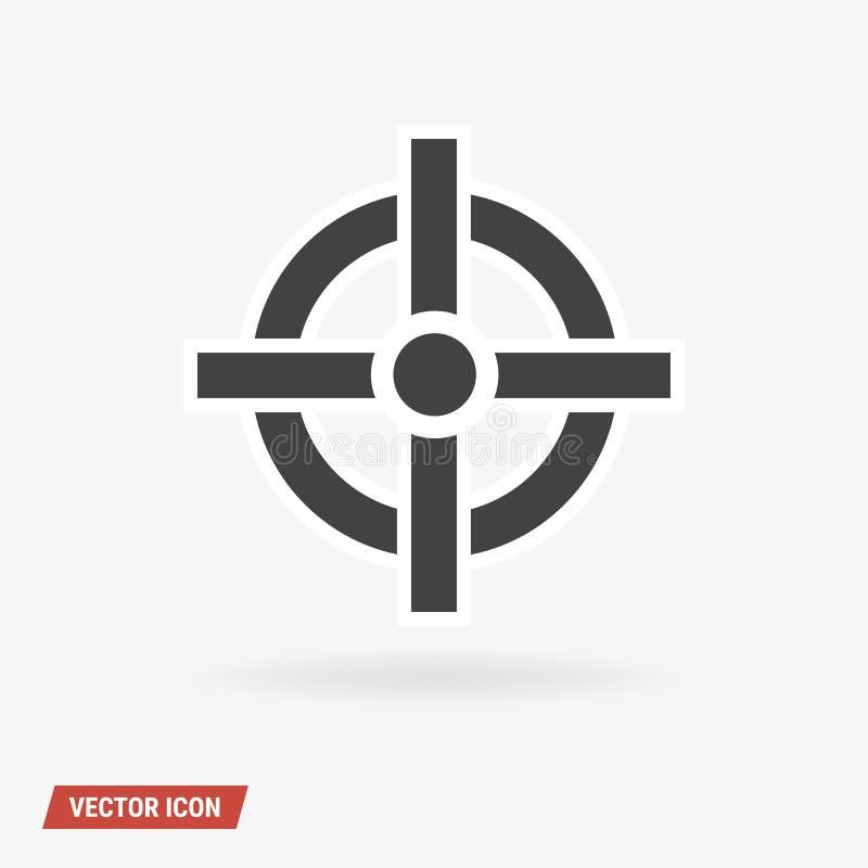 Sikta symbolsvektorn, stil för design för vektorillustionlägenhet royaltyfri illustrationer