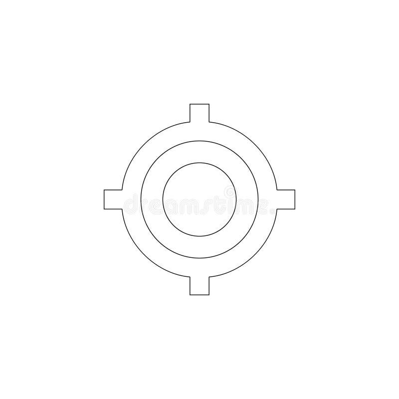 siktade Plan vektorsymbol royaltyfri illustrationer