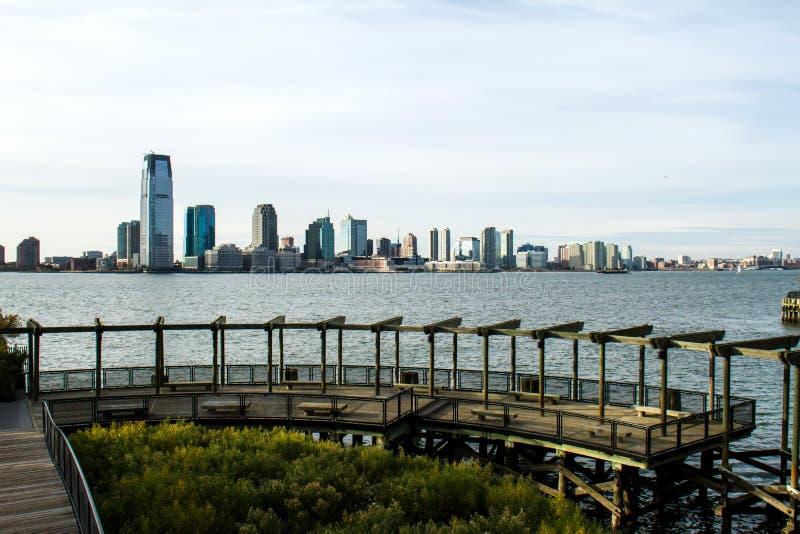 Sikten av Brooklyn från batteriet parkerar arkivbild