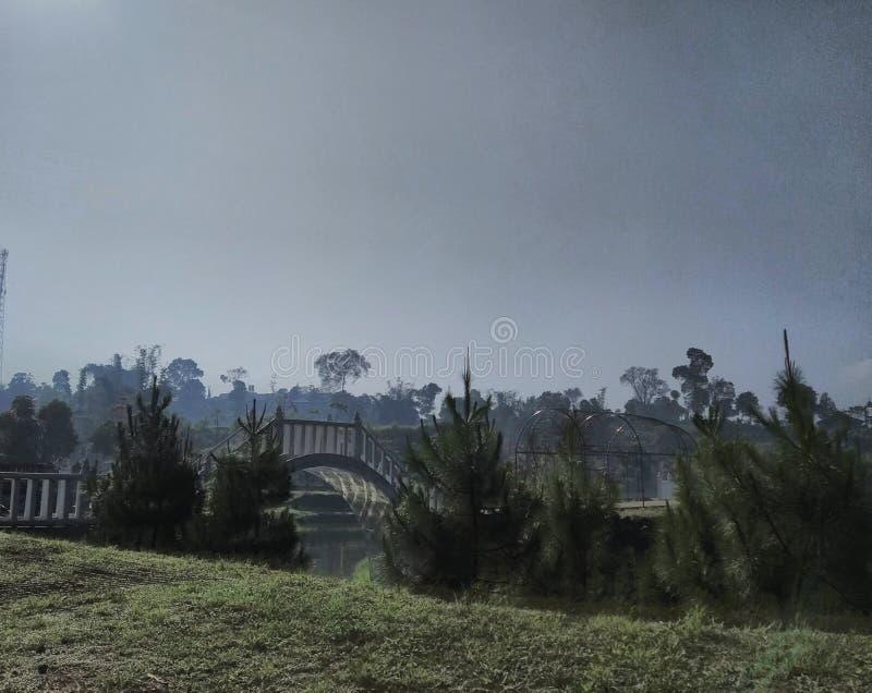 Sikten av Lembah Dewata Lembang arkivfoton