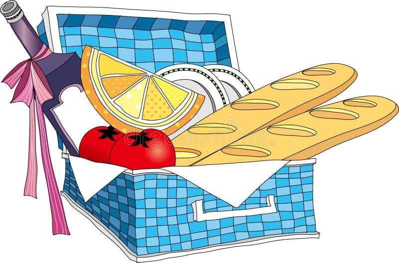 Sikten av lunchasken stock illustrationer