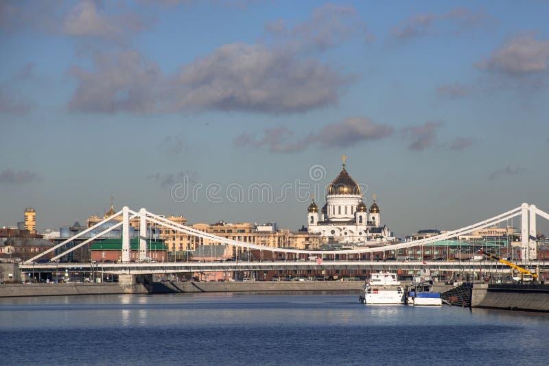 Sikten av Moskva från Gorky parkerar arkivbilder
