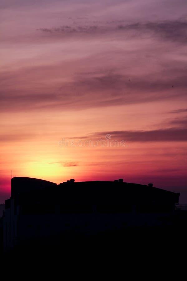 Sikten av solnedgången royaltyfri bild