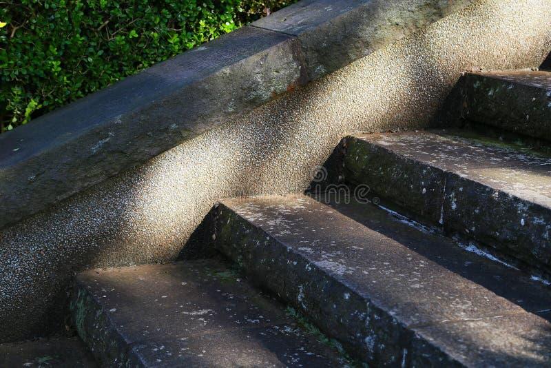 Sikten av trappasolljuset tänder upp royaltyfri bild