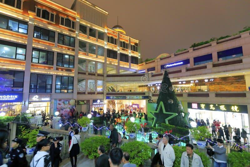 Sikten för natt för zhonghuachengaffärsområde royaltyfri fotografi