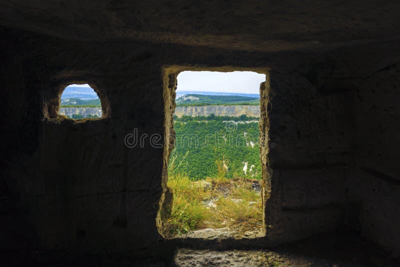 Sikten från grottan arkivfoto