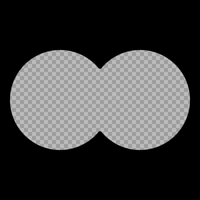 Sikten från kikaren Isolerad bakgrund för vektor beståndsdel Ram för militär-, jakt- eller turismprojekt vektor illustrationer
