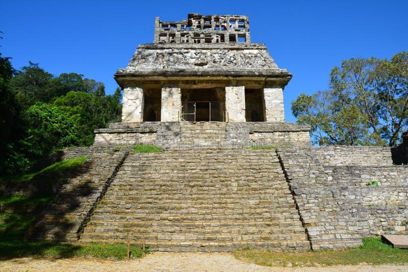 Sikten Palenque fördärvar Chiapas Mexico arkivbild