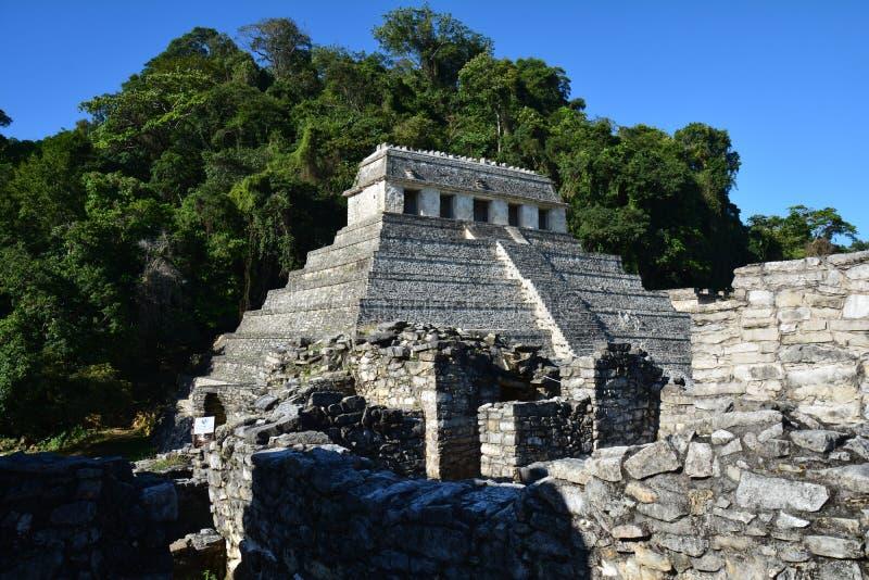 Sikten Palenque fördärvar Chiapas Mexico arkivbilder