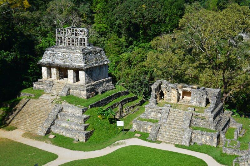 Sikten Palenque fördärvar Chiapas Mexico royaltyfria bilder