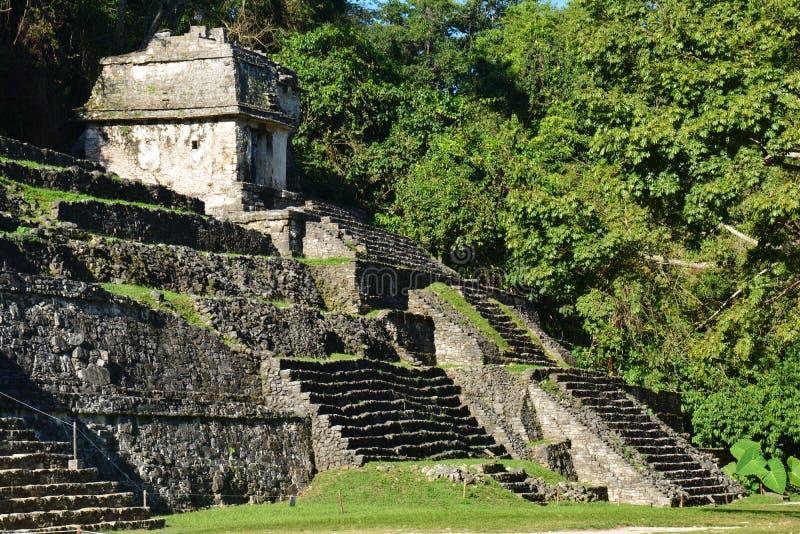 Sikten Palenque fördärvar Chiapas Mexico royaltyfria foton