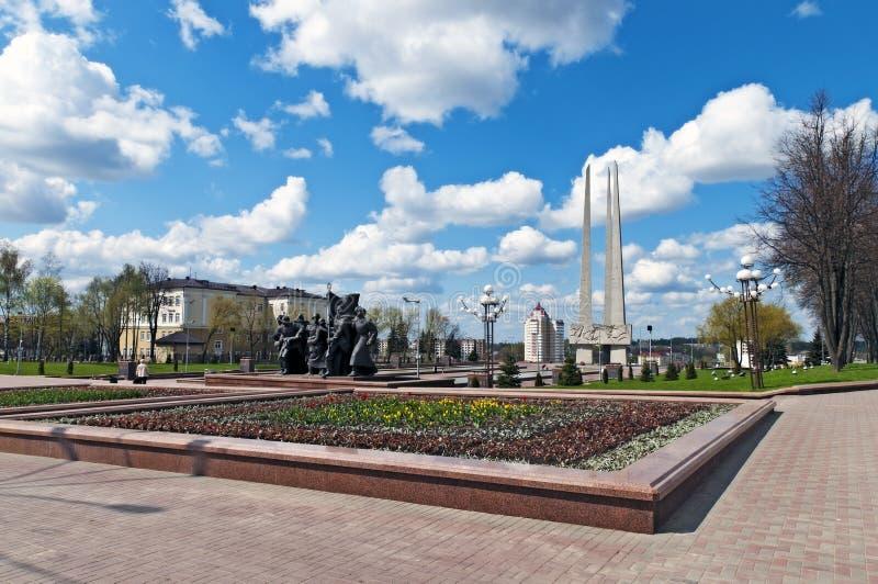 sikten vitebsk för den belarus liggandefjädern kriger världen royaltyfria bilder