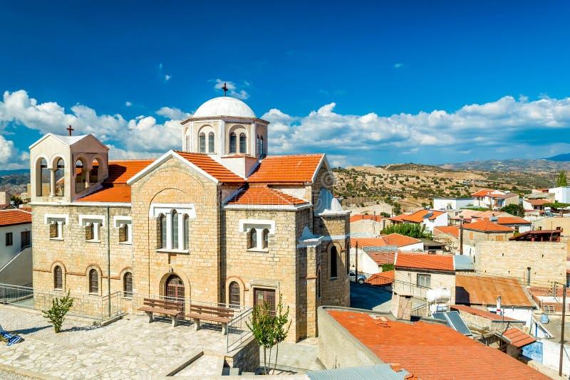 Sikter av den Dora byn Limassol område, Cypern royaltyfri fotografi