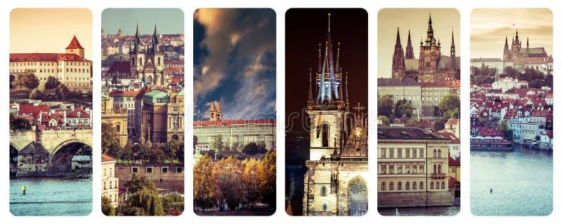 Sikter av den gamla staden Prague arkivfoton