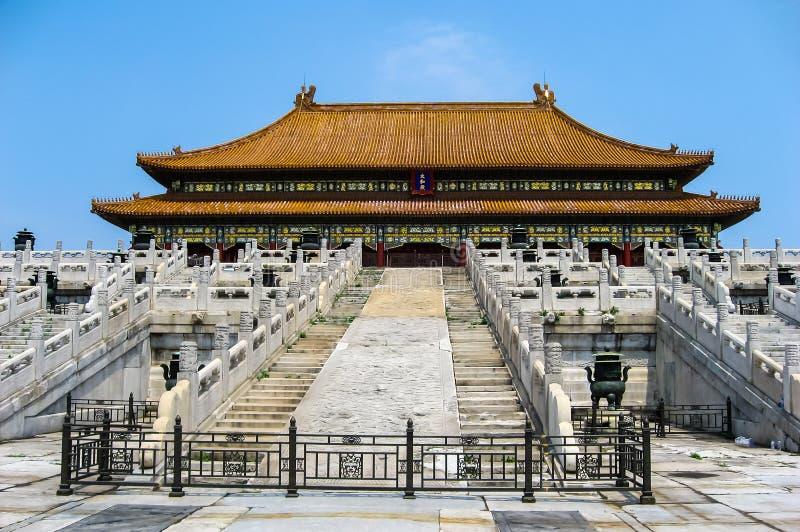 Sikter av Forbidden City, Peking Kina royaltyfri fotografi