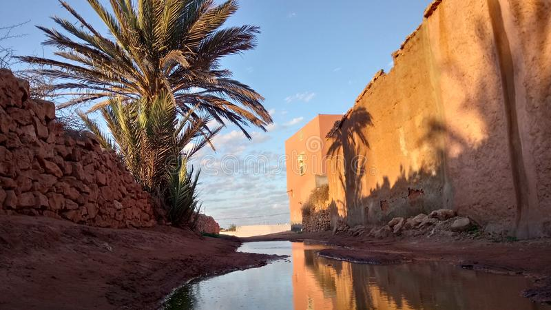 Sikter av Marocko arkivbild