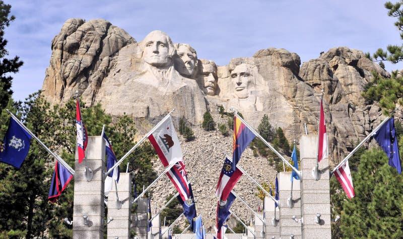 Sikter av Mt Rushmore royaltyfri bild