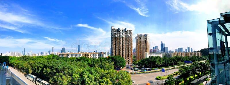 Sikter för Shenzhen panoramastree fotografering för bildbyråer