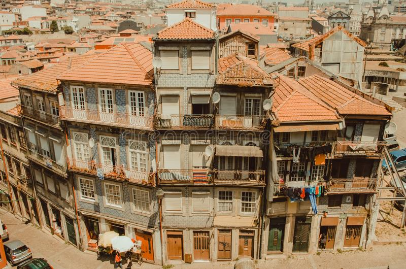 Sikter från av Porto, Portugal arkivfoton