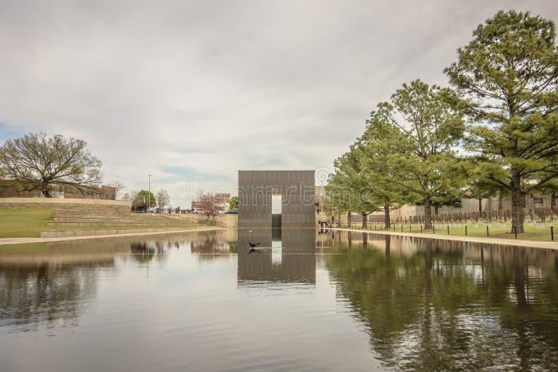 Sikter runt om oklahoma city på molnig dag fotografering för bildbyråer