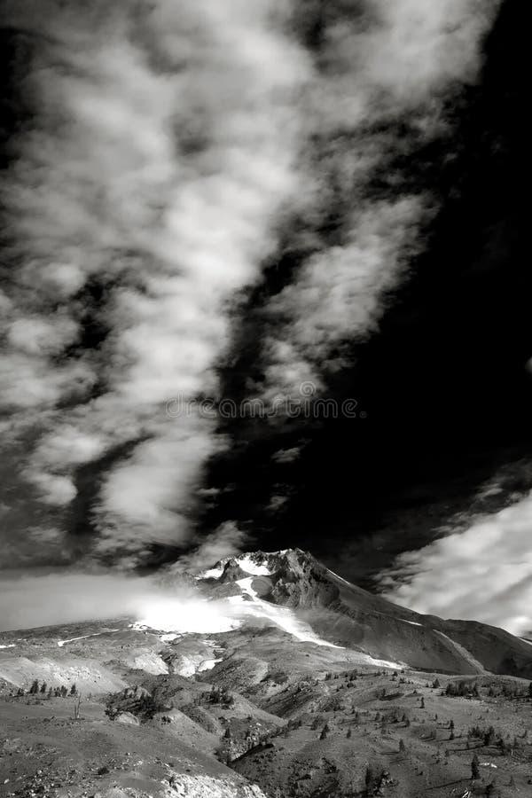 Siktsmonteringshuv från Timberlinelogen, Oregon royaltyfri bild