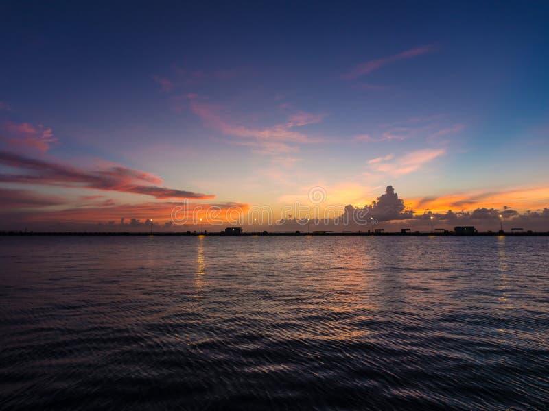 Siktspunkt på sydligast av USA i Key West arkivbild