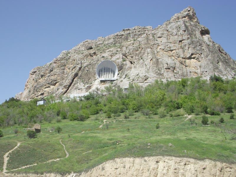 SiktsSulayman berg i Osh royaltyfria bilder
