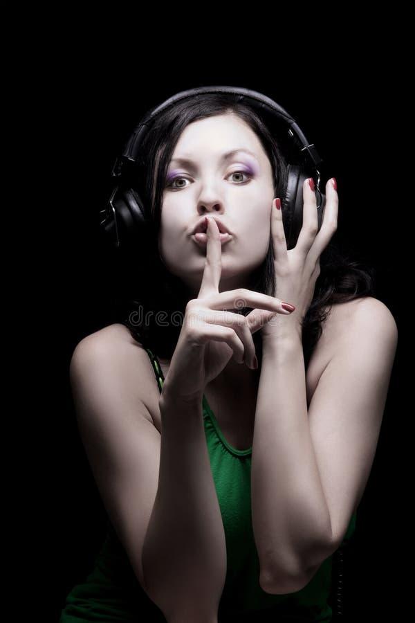 Silêncio da música imagem de stock royalty free