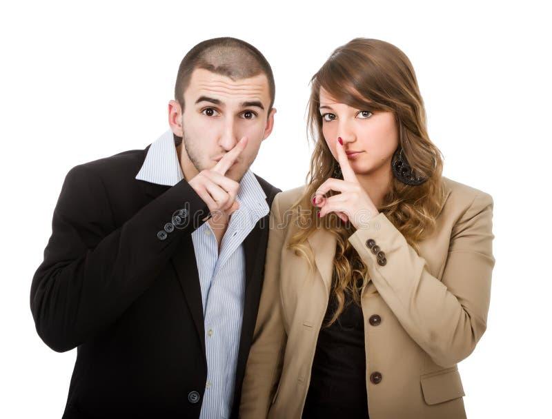 Silêncio por favor imagem de stock royalty free