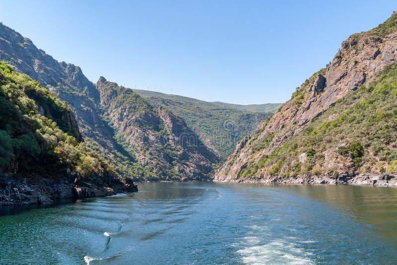 Sil rzeczny jar w Orense, Galicia -, Hiszpania fotografia stock
