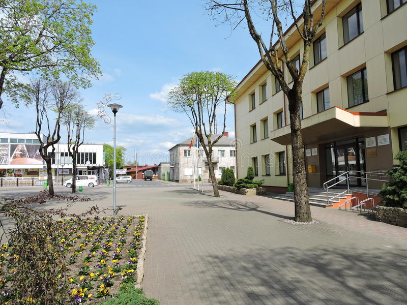 Silale town, Lithuania. View of Silale town, Lithuania stock photos