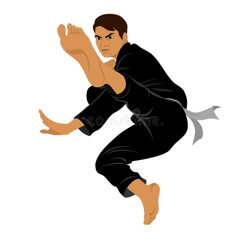 Vector of Silat Martial Arts from Indonesia - Pose 8 stock images