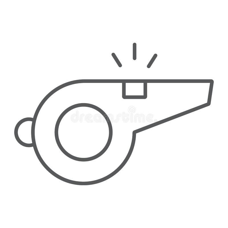 Silbe la línea fina icono, el juego y el deporte, muestra ilustración del vector